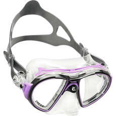 Cressi Air Crystal Diving / Snorkelling Mask - Black/Lilac