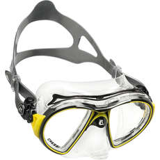 Cressi Air Crystal Diving / Snorkelling Mask - Black/Yellow