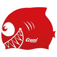 Bonnet De Bain Cressi Kids Shark Silicon - Rouge