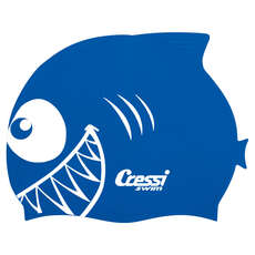 Cuffia Da Nuoto Cressi Kids Shark Silicon - Royal Blue