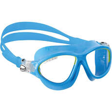 Cressi Mini Cobra Kids Swimming Goggles - Azul Claro / Lima - Edad 7-15