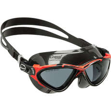 Cressi Planet Swimming Goggles - Black/Red Smoke