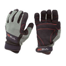 Gul Summer Full Finger Sailing Gloves 2018 - Black/Charcoal