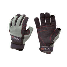 Gul Summer Three Finger Sailing Gloves  - Black/Charcoal