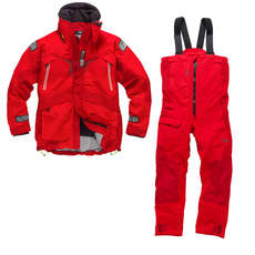Gill OS23 Jacket & Trouser Sailing Kit Combo  - Red/Red