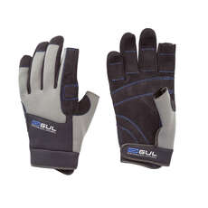 Guantes De Vela Gul Winter Three Finger 2018 - Negro / Carbón