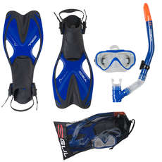 Gul Tarpon Junior Mask / Snorkel / Fin Set  - Blu / Nero