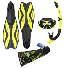 Gul Tarpon Mask/Snorkel/Fin Set 2019 - Yellow/Black