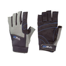 Gul Winter Short Finger Junior Sailing Gloves - Black/Charcoal