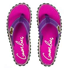 Gumbies Womens Islander Canvas Chanclas - Morado Firmado
