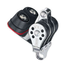 Harken 231 Triple Micro 22mm Block w/Cam Cleat & Becket