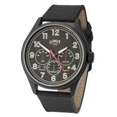 Limite Mens Pilot Aviator Style Analogue Watch - Nero
