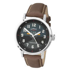 Limit Mens Pilot Aviator Style Analogue Watch - Brown