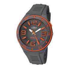 Limit Mens Analogue Water Sports Watch - Grey Orange