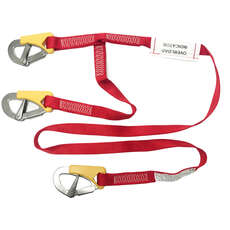 Marine Pool 3 Clip Safety Line with Overload Iindicator - 2m