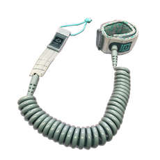 Mystic Sup Coiled Leash - 10 Pies - Gris / Menta
