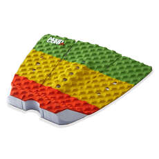 Northcore Ultimate Surfboard Deck Grip Tail Pad - The Rasta