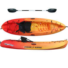 Ocean Kayak Frenzy - Sit On Top Kayak - Sunrise - Free Paddle
