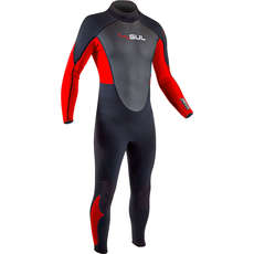 2020 Gul Response 3/2mm FL Wetsuit - Black/Red - RE1321-B7