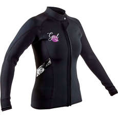 2020 Gul Womens Response 3mm FL Wetsuit Jacket - Black - RE6305-B7