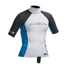 Gul Junior Short Sleeve Rashguard 2019 - Bianco / Blu
