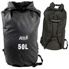 RUK Sport 50L Dry Bag With Straps - Canoe Kayak Sailing Watersports