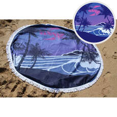 Sola Round Beach Towel - 150cm Diameter - Blue
