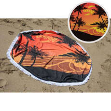 Sola Round Beach Towel - 150cm Diameter - Orange