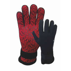 Typhoon Diver 3mm Wetsuit Gloves  - Black/Red