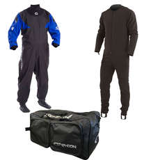 Typhoon Hypercurve Drysuit / Undersuit & Bag - Azul