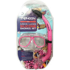 Typhoon Pro Mask & Snorkel Set - Adolescentes / Ladies - Rosa