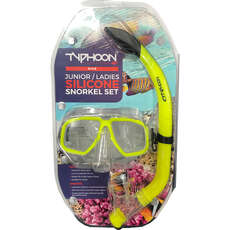 Typhoon Pro Mask & Snorkel Set - Adolescentes / Ladies - Amarillo