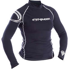 2020 Typhoon Womens Long Sleeve Rash Vest - Dark Teal 430031