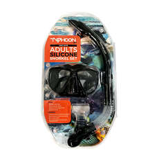 Ensemble Masque Et Tuba Typhoon Pro - Adulte - Noir