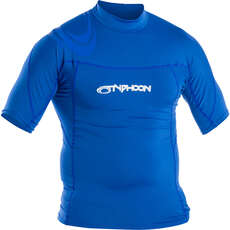 2020 Typhoon Short Sleeve Rash Top - Aqua Blue 430023