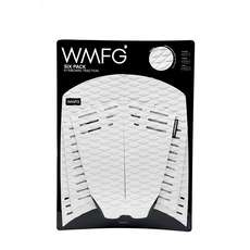 WMFG Kiteboard Traction Pad - Classic Six Pack Full Pad - White/Black