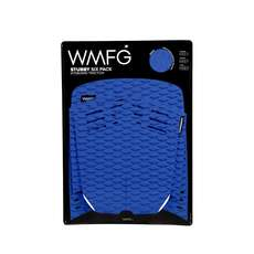 Wmfg Kiteboard Traction Pad - Coussinets Stubby Six Pack - Bleu / Blanc