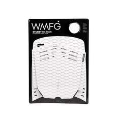 Wmfg Kiteboard Traction Pad - Coussinets Stubby Six Pack - Blanc / Noir