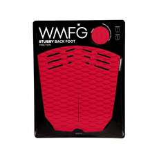 WMFG Kiteboard Traction Pad - Stubby Back Foot Pad - Red