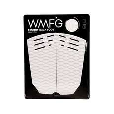 WMFG Kiteboard Traction Pad - Stubby Back Foot Pad - White/Black