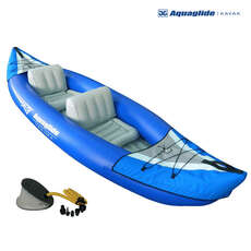 Aquaglide Yakima 2 Person Inflatable Kayak & Pump Set