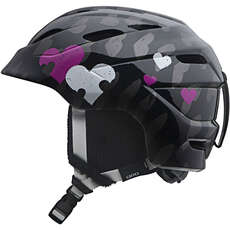 Giro Nine.10 Jr. Youth Ski & Snowboard Helmet - Black Heart Helix