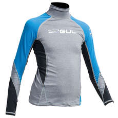 Gul Junior Flatlock Long Sleeve Rashguard 2019 - Marl/Crip