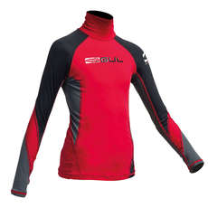Gul Junior Flatlock Long Sleeve Rashguard 2019 - Red/Black