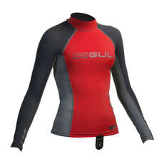 Gul Junior Long Sleeve Rashguard 2017 - Red/Dark Grey