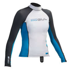 Gul Junior Long Sleeve Rashguard 2017 - Bianco / Crip