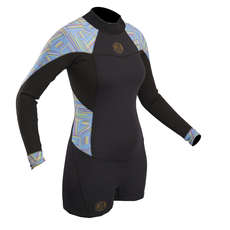 Gul Ladies Surflite 2mm Flatlock Springsuit Wetsuit 2018 - Black/Lines
