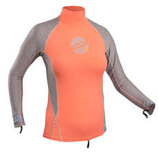 Gul Ladies Swami Long Sleeve Rashvest 2018 - Coral/Marl