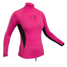 Gul Ladies Swami Long Sleeve Rashvest 2018 - Pink/Black