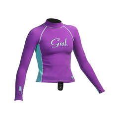 Gul Surf Junior Girls Long Sleeve Rashguard 2019 - Iris / Glacier